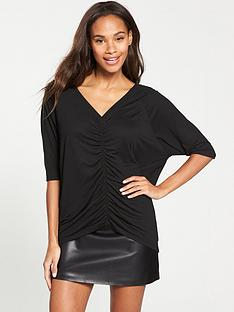 v-by-very-ruched-front-oversized-t-shirt-black