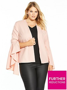 v-by-very-curve-statement-sleeve-blazer-blush