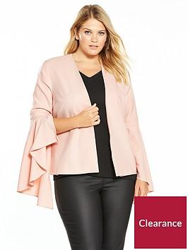 v-by-very-curve-statement-sleeve-blazer-blush