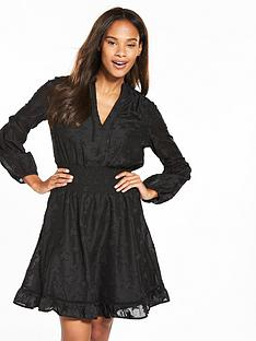 v-by-very-star-jacquard-skater-dress-black