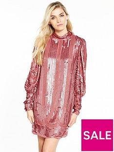 v-by-very-volume-sleeve-embellished-dressnbsp