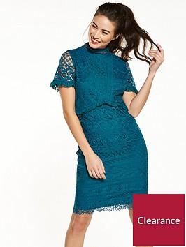 v-by-very-high-neck-frill-lace-dress