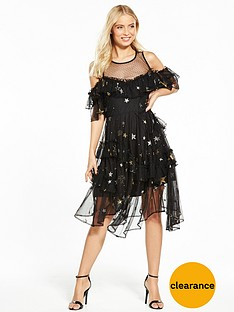 v-by-very-embroidered-star-cold-shoulder-dress