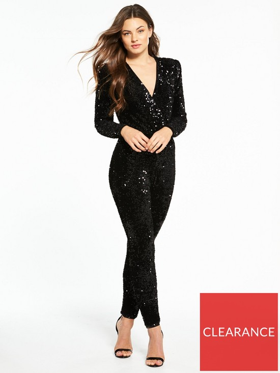 a5ffd67a4b V by Very Sequin Jumpsuit