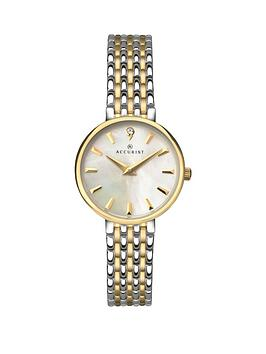 accurist-white-mother-of-pearl-dial-two-tone-bracelet-ladiesnbspwatch