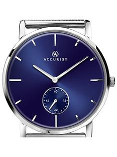 accurist-accurist-men039s-black-sunry-dial-bracelet-watch