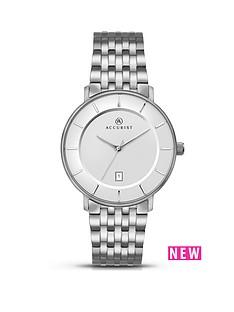 accurist-white-dial-titanium-bracelet-mensnbspwatch