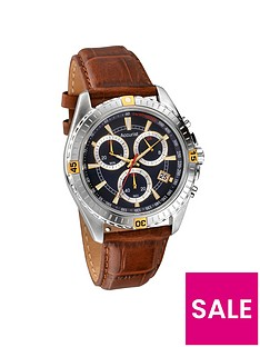 accurist-blue-dial-brown-strap-mensnbspwatch