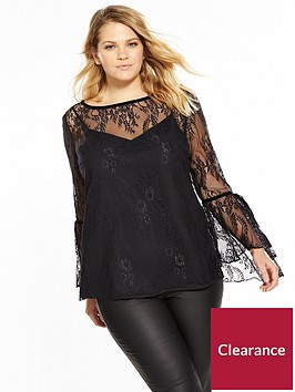 v-by-very-curve-lace-tie-sleeve-blouse