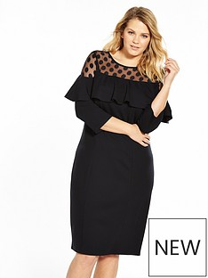 v-by-very-curve-spot-mesh-ruffle-dress-black