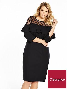v-by-very-curve-spot-mesh-ruffle-dress-black