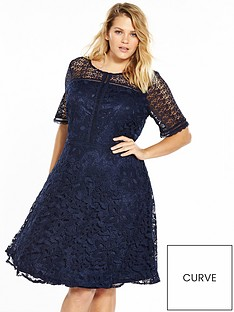 v-by-very-curve-premium-lace-skater-dress-navy