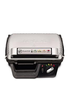 Tefal Gc450B27 Super Grill, 4 Settings Including Searing - Stainless Steel