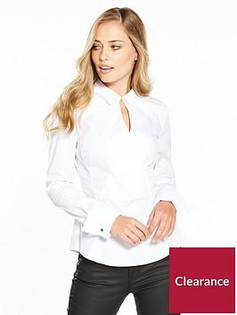 karen-millen-tailored-wrap-white-shirt