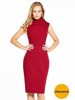 karen-millen-high-neckline-pencil-dress