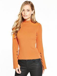 karen-millen-fluted-sleeve-knitted-jumper