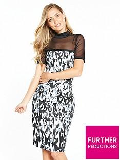 karen-millen-blurred-leopard-print-on-signature-stretch-dress