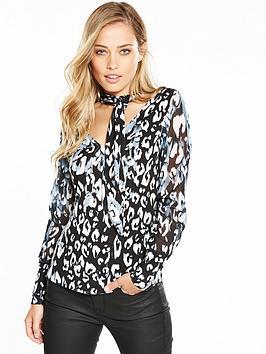 karen-millen-leopard-jersey-print-blouse