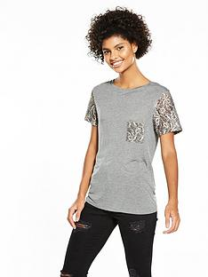 v-by-very-lace-pocket-sleeve-t-shirt-grey