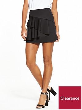 v-by-very-frill-ponte-skirt-black