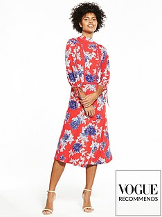 v-by-very-jersey-ladder-trim-printed-midi-dress