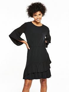 v-by-very-jersey-asymmetric-frill-dress-black