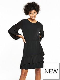 v-by-very-jersey-asymmetric-frill-dress-black