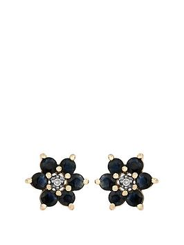 love-gem-9ct-yellow-gold-blue-sapphire-and-diamond-set-flower-stud-earring