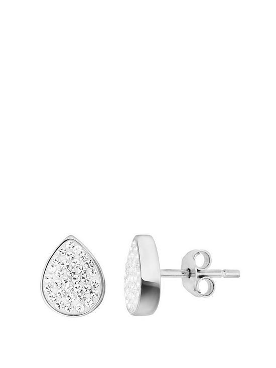 42cfea16d Evoke Sterling Silver & Swarovski Elements Tear Drop Stud Earrings ...