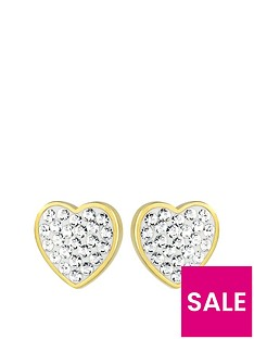 evoke-evoke-sterling-silver-gold-plated-amp-swarovski-elements-heart-stud-earrings