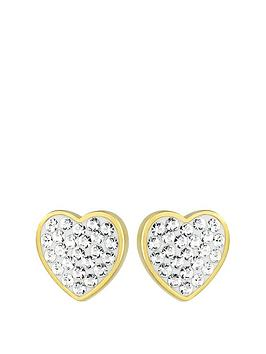 evoke-sterling-silver-gold-plated-amp-swarovski-elements-heart-stud-earrings