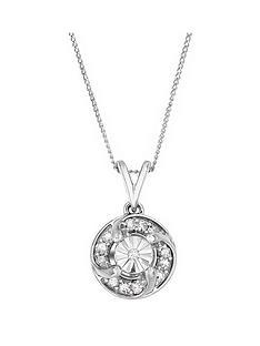 love-diamond-sterling-silver-12-points-white-diamond-miracle-plate-twist-pendant