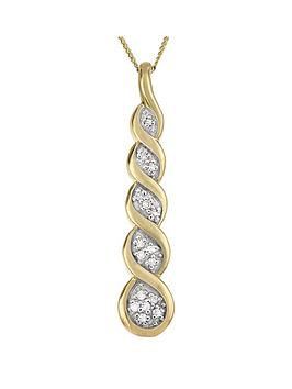 love-diamond-9ct-yellow-gold-diamond-set-twist-drop-pendant
