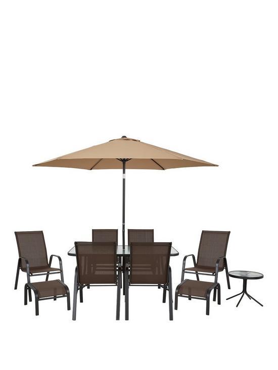 Versailles 11 Piece Outdoor Furniture Set Brown Very Co Uk