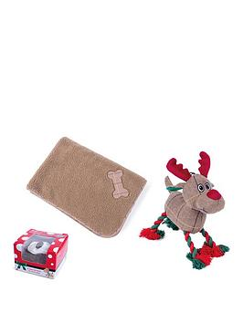 petface-festive-dog-bundle-blanket-toy-and-treat