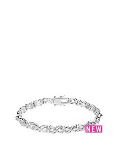 the-love-silver-collection-sterling-silver-cubic-zirconia-kiss-bracelet
