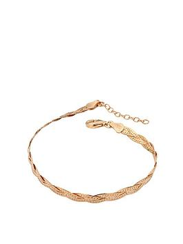 the-love-silver-collection-sterling-silver-rose-gold-plated-braided-bracelet