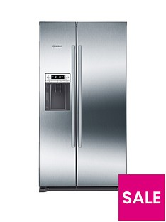 Bosch Serie 6 KAI90VI20G American-Style 90cm NoFrost Fridge Freezer with Non-Plumb Water Dispenser - Graphite
