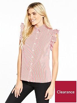 v-by-very-stripe-sleeveless-ruffle-shoulder-blouse