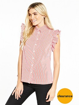 v-by-very-stripe-sleeveless-ruffle-shoulder-blouse