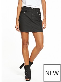 v-by-very-coated-pocket-detail-mini-skirt