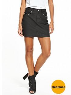 v-by-very-coated-pocket-detail-mini-skirt