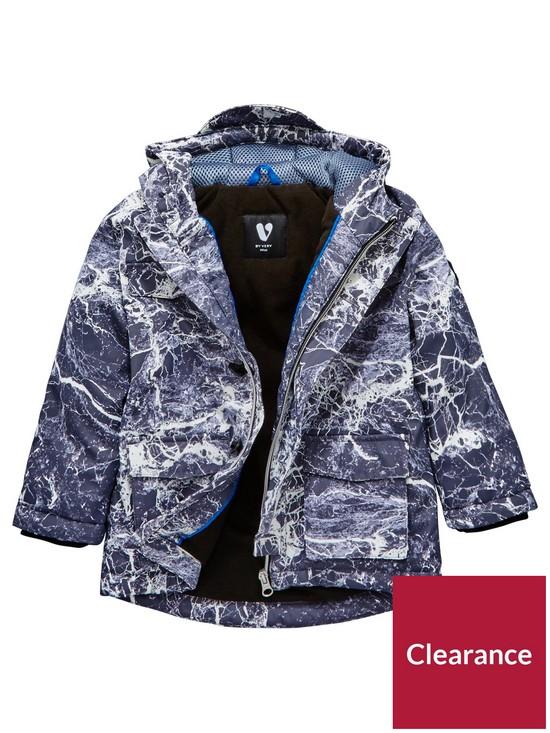 f50994e336bb Mini V by Very Boys Cosy Fleece Lined Coat