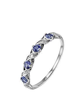 love-gem-9ct-white-gold-tanzanite-and-diamond-set-kiss-eternity-ring