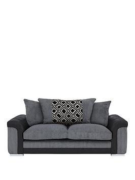 new-visage-fabric-and-faux-snakeskin-3-seater-sofa