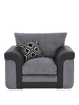new-visage-fabric-and-faux-snakeskin-armchair