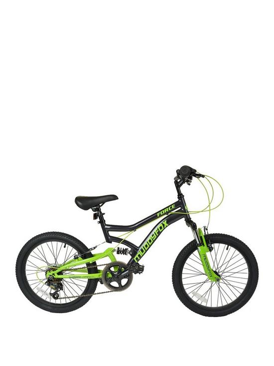 62816365fbc Muddyfox Force Dual Suspension Boys Mountain Bike 20 inch Wheel ...