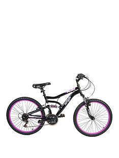 Muddyfox Inca Dual Suspension Girls Mountain Bike 24 inch Wheel