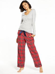 v-by-very-tartan-check-fashion-pjs-with-henley-top