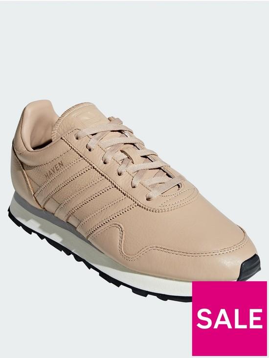 55b7c320bab137 adidas Originals Haven Leather Trainers - Stone